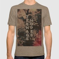 Teenage Hopes Mens Fitted Tee Tri-Coffee SMALL