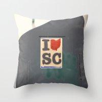 southern love::charleston Throw Pillow