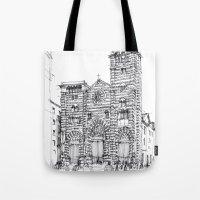 Cattedrale di Genova schizzo di studio Tote Bag