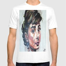audrey hepburn Mens Fitted Tee White SMALL