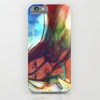 hair iPhone & iPod Cases featuring The Wind... by Alice X. Zhang