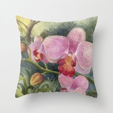 Orchid Beauty Throw Pillow