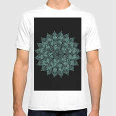 emerald White SMALL Mens Fitted Tee
