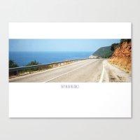 ROAD BLUE Canvas Print
