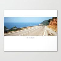 ROAD BLUE Canvas Print