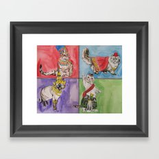 Cats from Around the World Framed Art Print