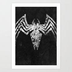 Ultimate Black suit Spider-Man Art Print