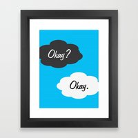Okay Framed Art Print