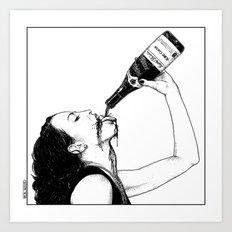 asc 560 - La bouteille (My friend Aloxe) Art Print