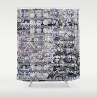 Post-Digital Tendencies Emerge (P/D3 Glitch Collage Studies) Shower Curtain
