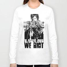 If Daryl Dies We Riot Long Sleeve T-shirt