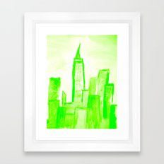 Green with Empire Framed Art Print