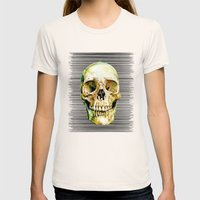 Skull Womens Fitted Tee Natural SMALL