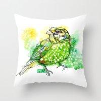 Australian Green Catbird  Throw Pillow