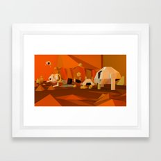 Mars Base Framed Art Print