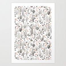 Crabby Pattern Art Print