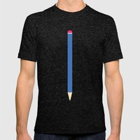 #6 Pencil Mens Fitted Tee Tri-Black SMALL