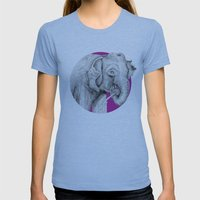 Elephant Womens Fitted Tee Athletic Blue SMALL