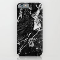iPhone Cases featuring Marble Black by Lumen Bigott