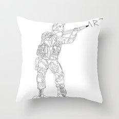 Military Art Throw Pillow