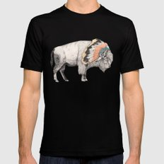 White Bison SMALL Mens Fitted Tee Black
