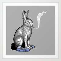 Carrot Smoke Trick Art Print
