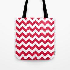 Chevron (Crimson/White) Tote Bag