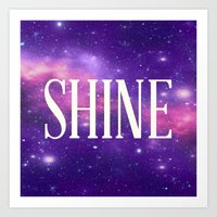 Shine Galaxy  Art Print