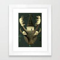 death rattle Framed Art Print