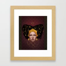 Gold Wire Framed Art Print