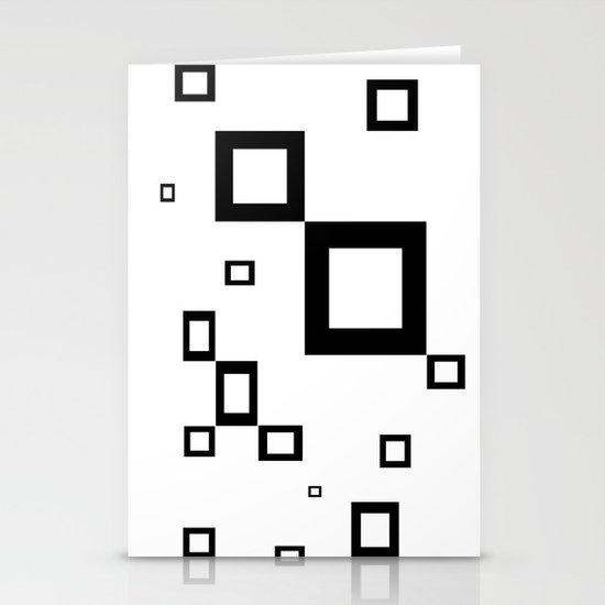 Black Stationery Card