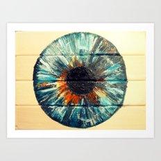 BERYL BLUE IRIS Art Print