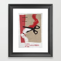 Editor Framed Art Print