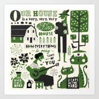 Our House Art Print