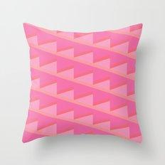 Pink Ascent Throw Pillow