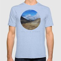 Life Is A Journey (Colour)  Mens Fitted Tee Athletic Blue SMALL