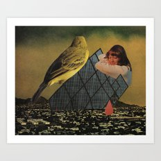 looking for happiness in all the wrong places Art Print
