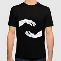 hands  Mens Fitted Tee Black SMALL