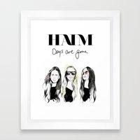 Haim Days Are Gone Framed Art Print