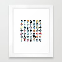 Heads 02 Framed Art Print