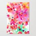 Candy Petals Canvas Print