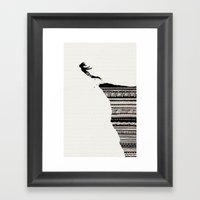 Cliff Diver Framed Art Print