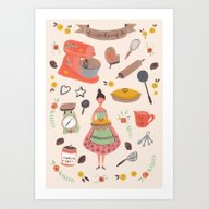 Cooking Some Cookies Art Print