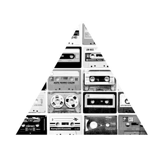 ▲ Triangle Cassettes △ Art Print