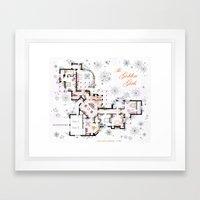 The Golden Girls House floorplan v.1 Framed Art Print