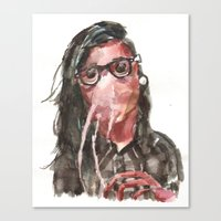 Canvas Print featuring Krillex the Krill by Becca Kallem