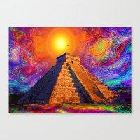 Mayan Pyramid   Canvas Print