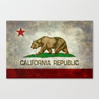 California Republic state flag Canvas Print