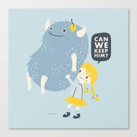 Found (Can We Keep Him) Canvas Print