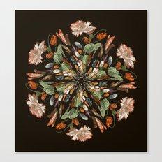 Flemish Floral Mandala 3 Canvas Print